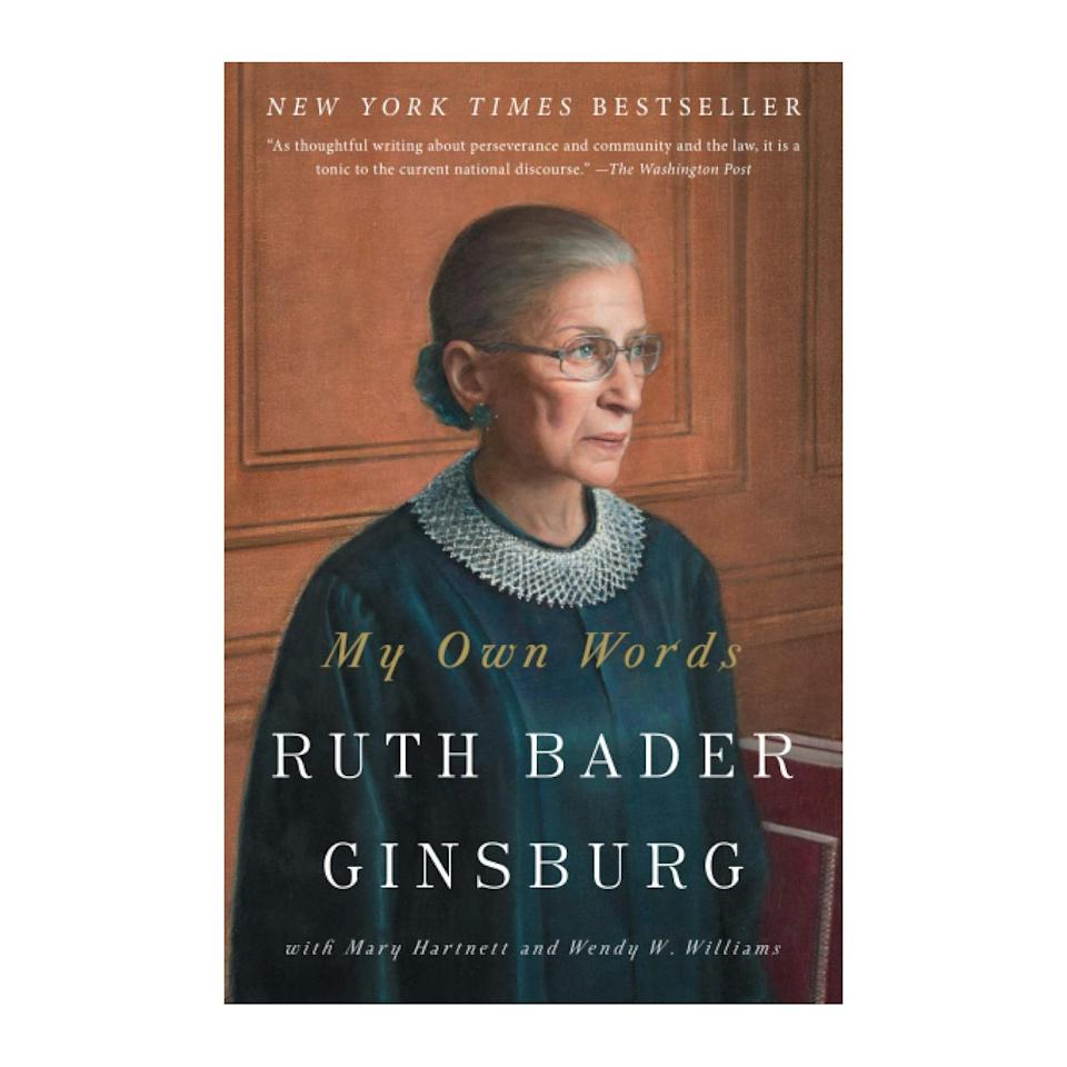 """Just some new reading material for your book club pals. $14, Amazon. <a href=""""https://www.amazon.com/Own-Words-Ruth-Bader-Ginsburg/dp/1501145258/ref=sr_1_5?"""" rel=""""nofollow noopener"""" target=""""_blank"""" data-ylk=""""slk:Get it now!"""" class=""""link rapid-noclick-resp"""">Get it now!</a>"""