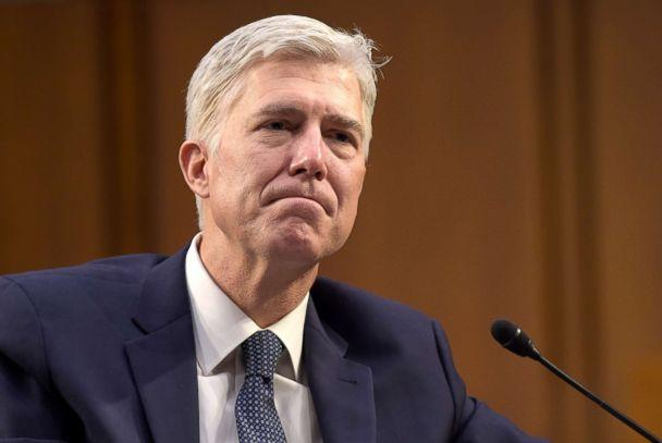 PHOTO: In this March 22, 2017 file photo, Supreme Court Justice nominee Neil Gorsuch listens as he is asked a question by Sen. Mazie Hirono, on Capitol Hill in Washington, during his confirmation hearing before the Senate Judiciary Committee. (Susan Walsh/AP, FILE)