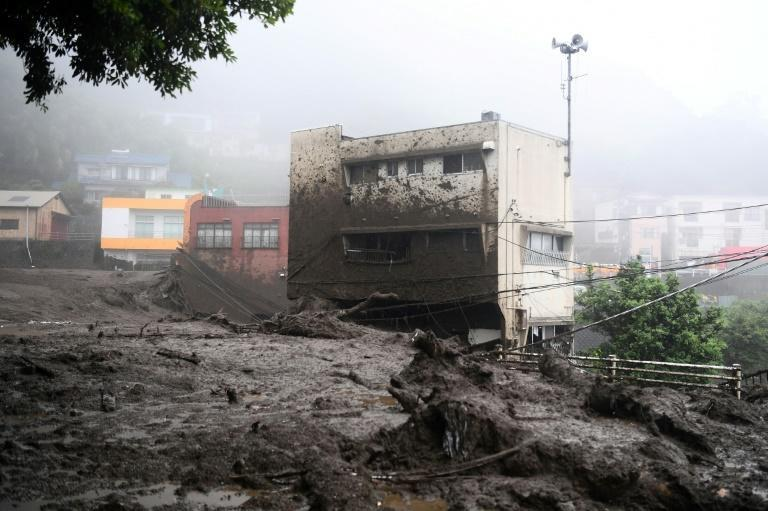 NHK said 80 houses had been destroyed in the mudslide