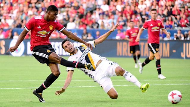 <p>Tenacious, hungry and fearless, 19-year-old Marcus Rashford has exploded onto the scene of English football.</p> <br><p>Due to more experienced options leading the line, Rashford has often been pushed into a wider role, and hasn't been able to develop as a striker as quickly as he may have hoped. </p> <br><p>If Rashford is allowed to develop at Old Trafford, honing his existing skills and gaining experience, he could be an ideal signing for Real Madrid in a few years time.</p>
