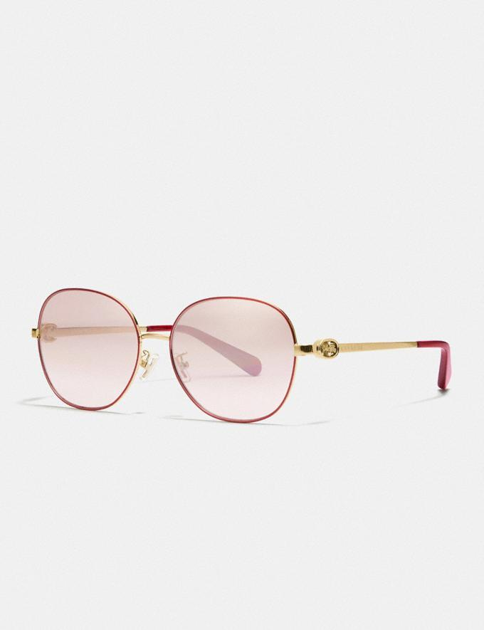 Lunar New Year Wire Frame Round Sunglasses. Image via Coach.