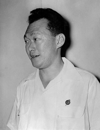 Lee Kuan Yew, 36, is the leader of People's Action Party. (AP Photo)