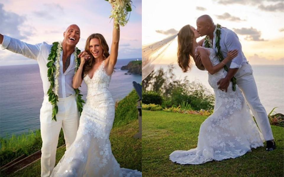 Dwayne 'The Rock' Johnson and Lauren Hashian have tied the knot [Photo: Instagram]