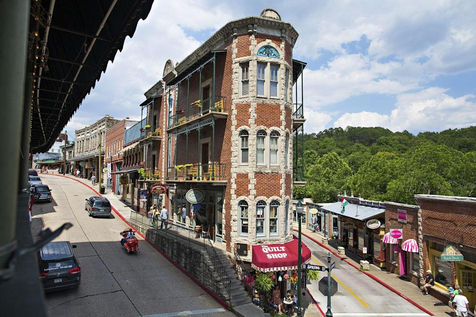 """<p>In the heart of the Ozark Mountains is <a href=""""https://go.redirectingat.com?id=74968X1596630&url=https%3A%2F%2Fwww.tripadvisor.com%2FTourism-g31582-Eureka_Springs_Arkansas-Vacations.html&sref=https%3A%2F%2Fwww.esquire.com%2Flifestyle%2Fg35036575%2Fsmall-american-town-destinations%2F"""" rel=""""nofollow noopener"""" target=""""_blank"""" data-ylk=""""slk:this charming Victorian village"""" class=""""link rapid-noclick-resp"""">this charming Victorian village</a>, known for both its Historic District and its natural springs. Turpentine Creek Wildlife Refuge, which is home to big cats, is also in Eureka Springs.</p>"""
