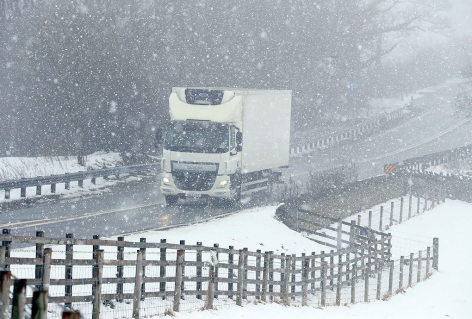 <em>UK roads became treacherous after the Beast from the East hit the country last week (PA)</em>