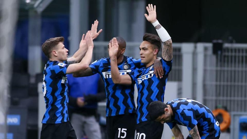 La gioia dell'Inter capolista dopo l'ultima vittoria | BSR Agency/Getty Images