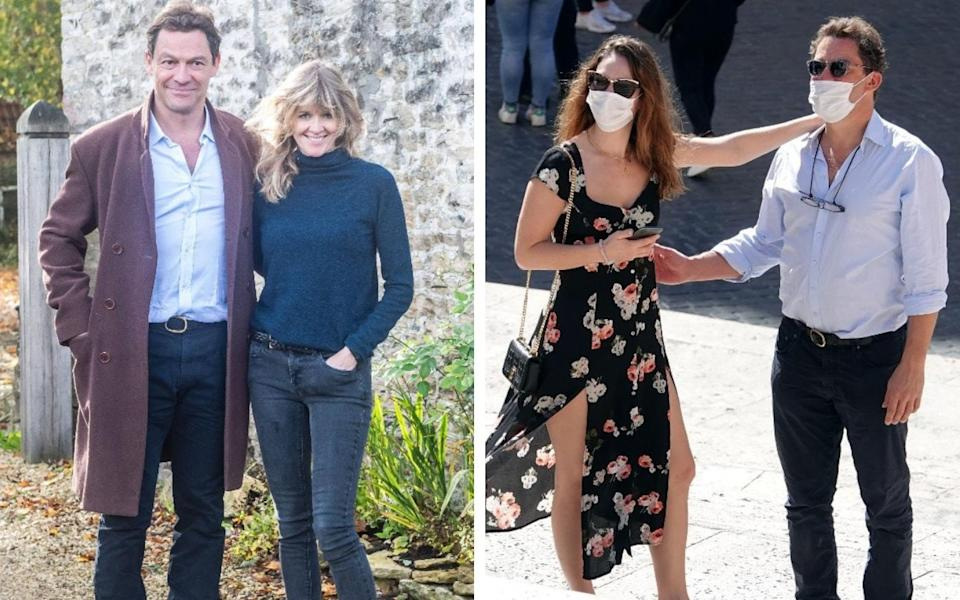 Dominic West, married to Catherine FitzGerald, has been under the spotlight after pictures emerged of the actor with co-star Lily James - Bestpix/ Backgrid