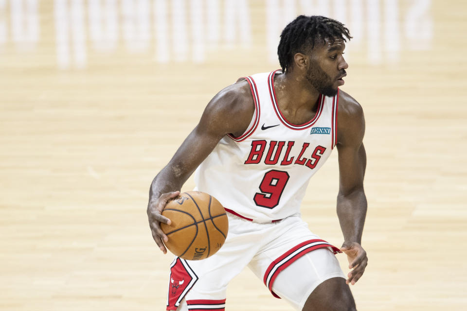 Patrick Williams started 71 games for the Chicago Bulls as a rookie last season. (Mitchell Leff/Getty Images)