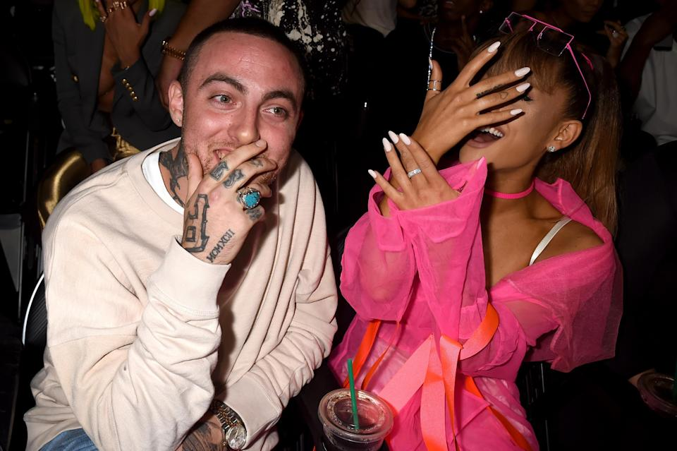 Mac Miller and Ariana Grande attend the 2016 MTV Video Music Awards at Madison Square Garden on Aug. 28, 2016, in New York City. (Photo: Jeff Kravitz/FilmMagic)