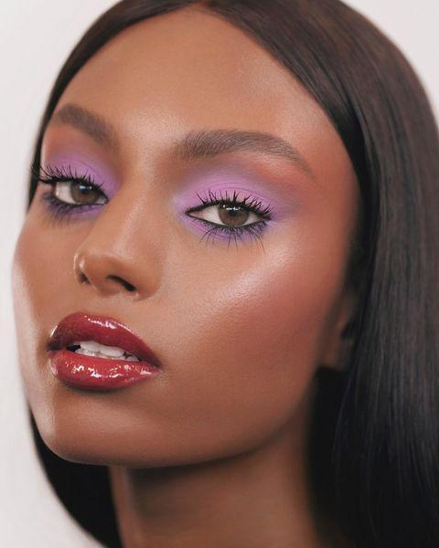 """<p>Pink shadow isn't for everyone, but lavender is. Sweep it all over the lid and extend it out below the waterline and below the brow. Match it with a glossy berry lip for a gorgeous look. </p><p><strong><br>Try: L'Oreal Paris</strong> Brilliant Eyes Shimmer Liquid Eye Shadow Makeup in Amethyst Quartz, $12, <a href=""""https://www.lorealparisusa.com/products/makeup/eye/eye-shadow/brilliant-eyes-shimmer-liquid-eye-shadow-makeup.aspx?&shade=amethyst-quartz"""" rel=""""nofollow noopener"""" target=""""_blank"""" data-ylk=""""slk:lorealparisusa.com"""" class=""""link rapid-noclick-resp"""">lorealparisusa.com</a>. <a class=""""link rapid-noclick-resp"""" href=""""https://www.lorealparisusa.com/products/makeup/eye/eye-shadow/brilliant-eyes-shimmer-liquid-eye-shadow-makeup.aspx?shade=amethyst-quartz"""" rel=""""nofollow noopener"""" target=""""_blank"""" data-ylk=""""slk:SHOP"""">SHOP</a></p><p><a href=""""https://www.instagram.com/p/CEAs2OUHRQ6/"""" rel=""""nofollow noopener"""" target=""""_blank"""" data-ylk=""""slk:See the original post on Instagram"""" class=""""link rapid-noclick-resp"""">See the original post on Instagram</a></p>"""
