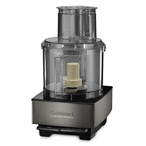 """<p><strong>Cuisinart</strong></p><p>amazon.com</p><p><strong>$229.99</strong></p><p><a href=""""https://www.amazon.com/dp/B077KR1RXV?tag=syn-yahoo-20&ascsubtag=%5Bartid%7C1782.g.34057925%5Bsrc%7Cyahoo-us"""" rel=""""nofollow noopener"""" target=""""_blank"""" data-ylk=""""slk:BUY NOW"""" class=""""link rapid-noclick-resp"""">BUY NOW</a></p><p>Why chop all your ingredients by hand when you can pick up Cuisinart's 14-cup food processor? Tricked out with a 720-watt motor, this gadget can do everything from shred cheese to slice produce to knead dough. </p>"""