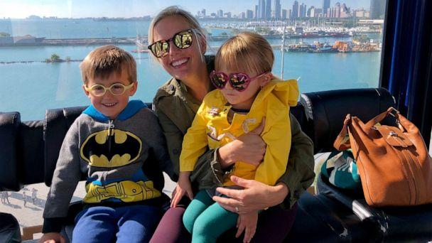 PHOTO: Erin Fowler poses with her children on the Ferris Wheel at Navy Pier in Chicago. (Courtesy Erin Fowler)