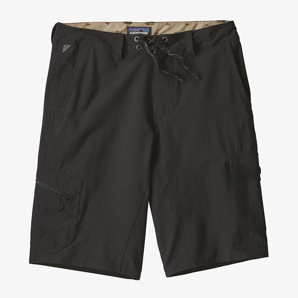 """<p><strong>Patagonia</strong></p><p>backcountry.com</p><p><strong>$79.00</strong></p><p><a href=""""https://go.redirectingat.com?id=74968X1596630&url=https%3A%2F%2Fwww.backcountry.com%2Fpatagonia-moc-21in-hybrid-short-mens&sref=https%3A%2F%2Fwww.menshealth.com%2Fstyle%2Fg36560974%2Fbest-board-shorts-for-men%2F"""" rel=""""nofollow noopener"""" target=""""_blank"""" data-ylk=""""slk:BUY IT HERE"""" class=""""link rapid-noclick-resp"""">BUY IT HERE</a></p><p>Patagonia makes the best hybrid board shorts on the market, allowing you to go from one summer adventure to the next without having to change. We suggest buying one in every color. </p>"""