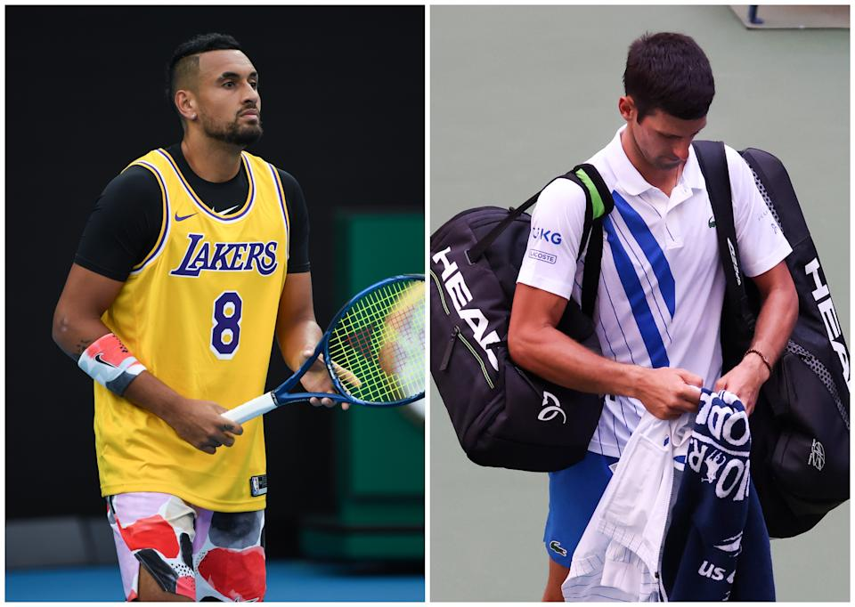 Nick Kyrgios, el azote de Novak Djokovic. (Foto: James D. Morgan / Getty Images / Al Bello / Getty Images).