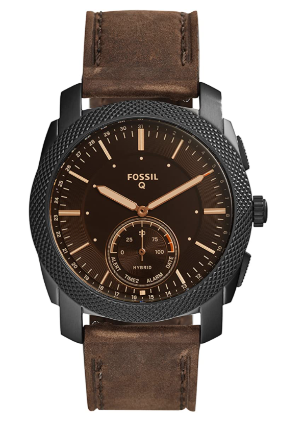 Fossil Machine Stainless Steel Hybrid Smartwatch (Photo via Amazon)