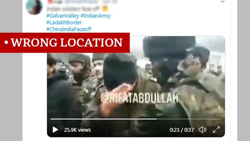 Screen grab of video labelled wrong location