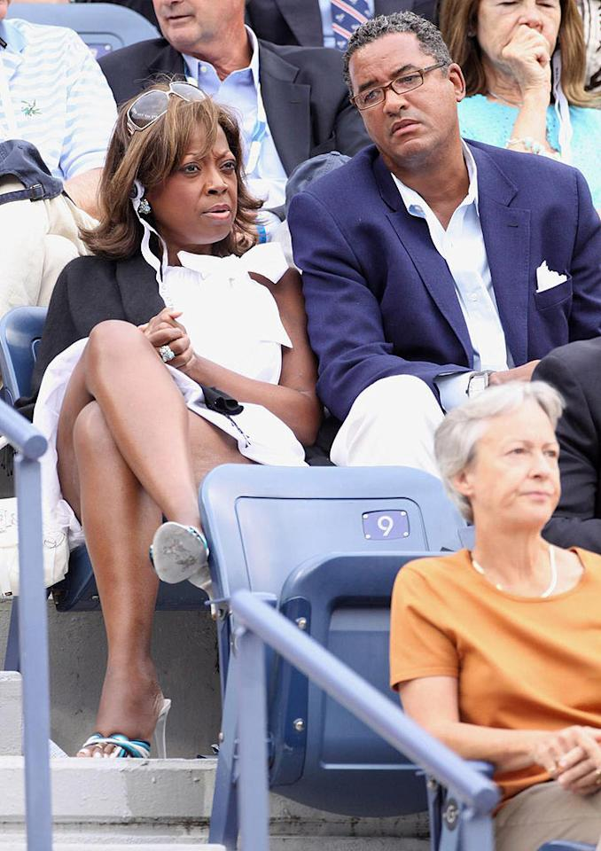 """Former """"View"""" hostess Star Jones and beau Herb Wilson look less than thrilled to be attending the final Grand Slam of the year. Juan Soliz/<a href=""""http://www.pacificcoastnews.com/"""" target=""""new"""">PacificCoastNews.com</a> - September 6, 2009"""
