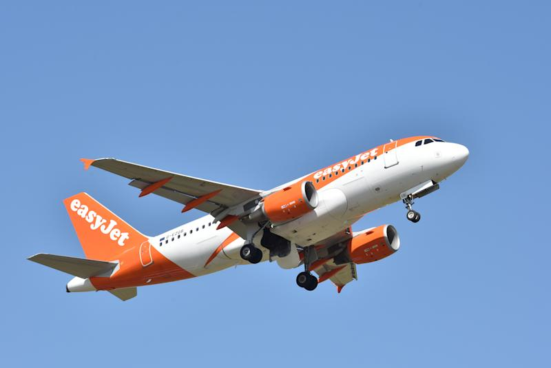 SOUTHEND ON SEA, ENGLAND - JULY 03: An EasyJet airplane takes off from Southend airport on July 3, 2018 in Southend on Sea, England. (Photo by John Keeble/Getty Images)
