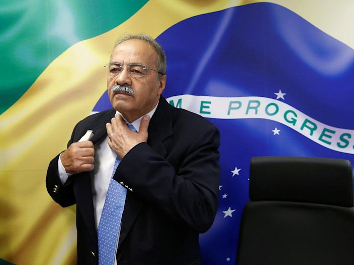 Police found £4,500 hidden in Brazilian senator Chico Rodrigues' underpants (Adriano Machado/Reuters)