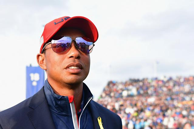 """<a class=""""link rapid-noclick-resp"""" href=""""/pga/players/147/"""" data-ylk=""""slk:Tiger Woods"""">Tiger Woods</a> has reportedly turned down a huge payday in Saudi Arabia. (Getty)"""