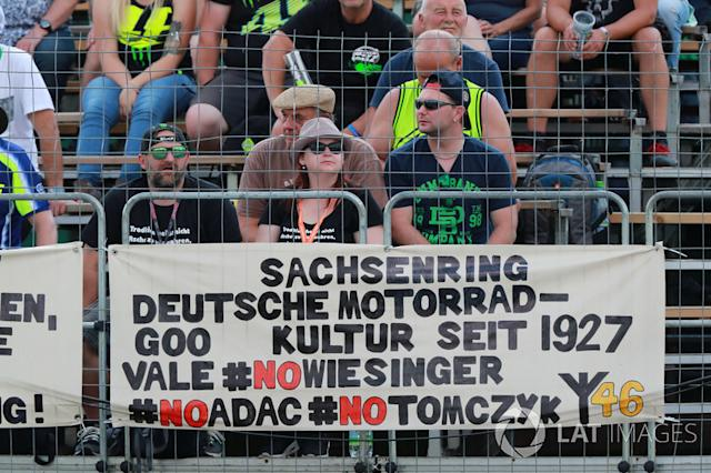 "German fan banner <span class=""copyright"">Gold and Goose / Motorsport Images</span>"