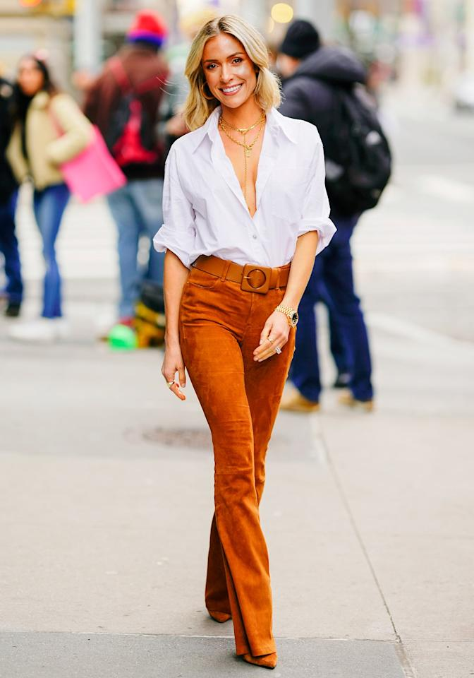 Kristin Cavallari makes the sidewalk her runway on Wednesday while out in N.Y.C.