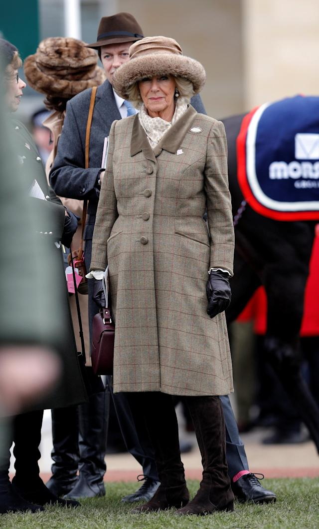 Horse Racing - Cheltenham Festival - Cheltenham Racecourse, Cheltenham, Britain - March 14, 2018 Camilla, Duchess of Cornwall during racing REUTERS/Darren Staples