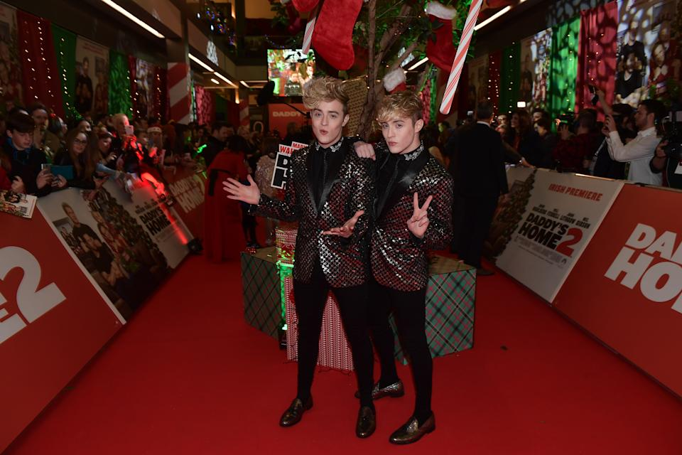 DUBLIN, IRELAND - NOVEMBER 15:  John and Edward Grimes aka Jedward attends the Irish premiere of 'Daddy's Home 2'  Odeon Cinema on November 15, 2017 in Dublin, Ireland.  (Photo by Charles McQuillan/Charles McQuillan /Getty Images for Paramount Pictures)