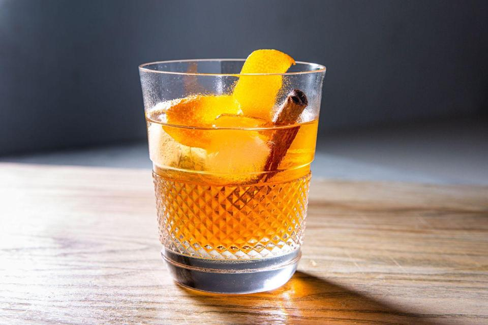 """<p>A little brown sugar makes this <a href=""""https://www.delish.com/content/cocktail-recipes/"""" rel=""""nofollow noopener"""" target=""""_blank"""" data-ylk=""""slk:classic cocktail"""" class=""""link rapid-noclick-resp"""">classic cocktail</a> extra warm cozy. <br></p><p>Get the recipe from <a href=""""https://www.delish.com/cooking/recipe-ideas/a30121084/brown-sugar-old-fashioned-recipe/"""" rel=""""nofollow noopener"""" target=""""_blank"""" data-ylk=""""slk:Delish"""" class=""""link rapid-noclick-resp"""">Delish</a>.</p>"""