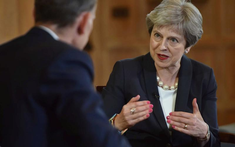 Prime Minister Theresa May discusses her funding increase for the NHS - REUTERS
