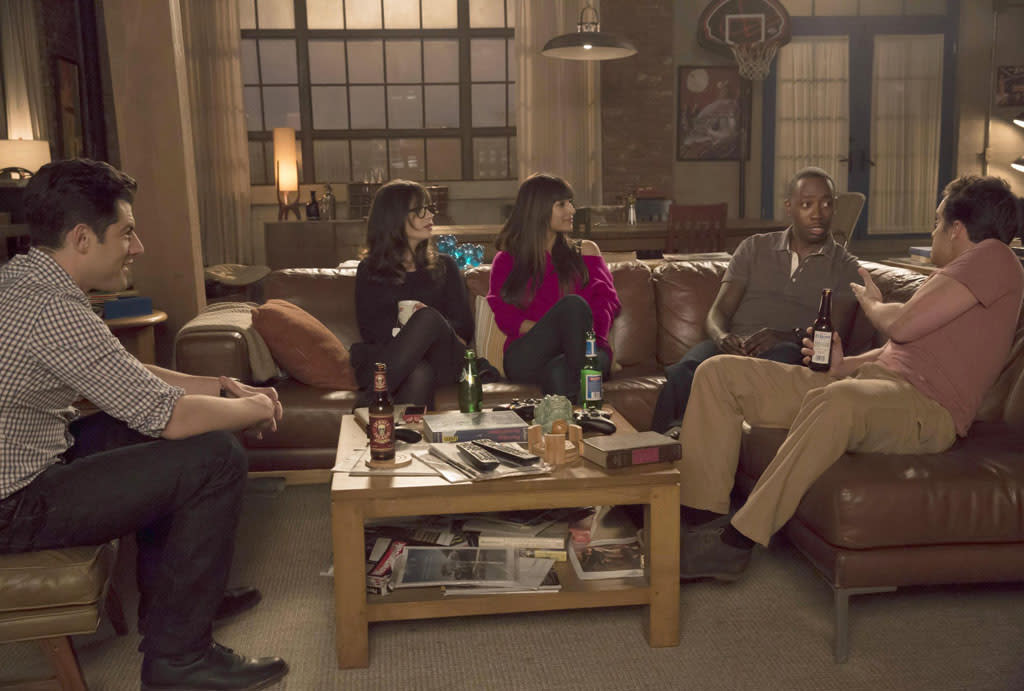 "The gang recount the stories of how they each lost his/her virginity in the ""Virgins"" episode of ""New Girl."""