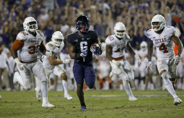 TCU moved to No. 6 after beating Texas 24-7. (AP Photo/Ron Jenkins)