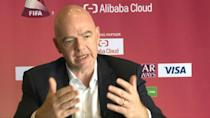 FIFA president Gianni Infantino says he strongly backs an expanded Club World Cup tournament to boost