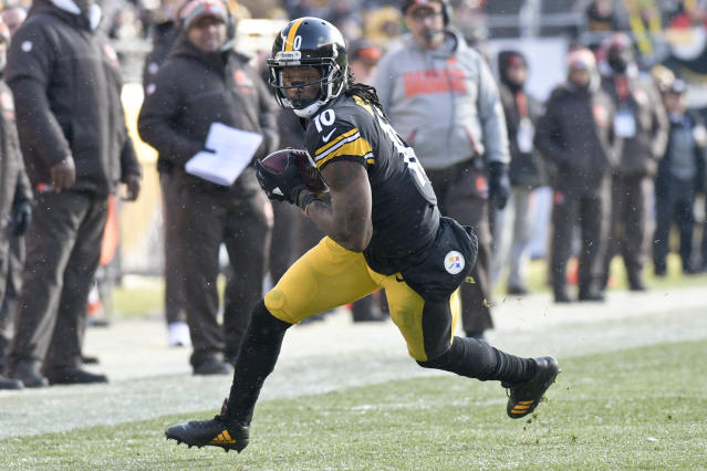 The Pittsburgh Steelers denied on Wednesday that they are shopping Martavis Bryant. (AP)