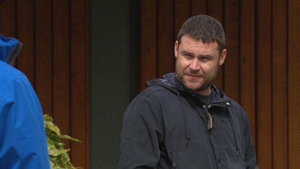 FROM ITV  STRICT EMBARGO  Print media - No Use Before Tuesday 15th June 2021 Online Media - No Use Before 0700hrs  Tuesday 15th June 2021  Emmerdale - Ep 9080.81  Wednesday 23rd June 2021  Ben's [SIMON LENNON] thrown when Aaron Dingle [DANNY MILLER] tells him he wants him, not Robert.   Picture contact David.crook@itv.com   This photograph is (C) ITV Plc and can only be reproduced for editorial purposes directly in connection with the programme or event mentioned above, or ITV plc. Once made available by ITV plc Picture Desk, this photograph can be reproduced once only up until the transmission [TX] date and no reproduction fee will be charged. Any subsequent usage may incur a fee. This photograph must not be manipulated [excluding basic cropping] in a manner which alters the visual appearance of the person photographed deemed detrimental or inappropriate by ITV plc Picture Desk. This photograph must not be syndicated to any other company, publication or website, or permanently archived, without the express written permission of ITV Picture Desk. Full Terms and conditions are available on  www.itv.com/presscentre/itvpictures/terms