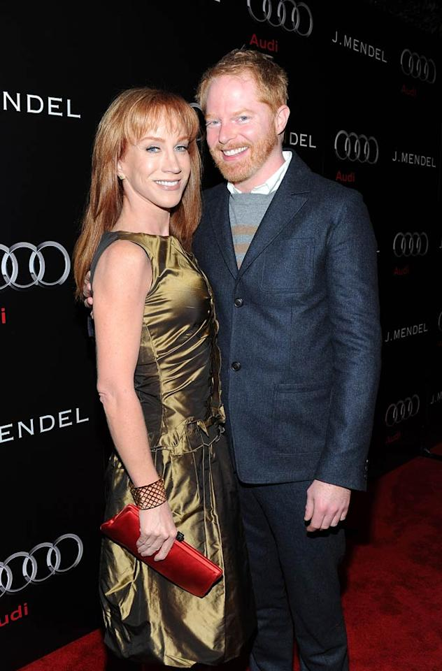 "Funny lady Kathy Griffin caught up with fellow redhead Jesse Tyler Ferguson. Michael Buckner/<a href=""http://www.wireimage.com"" target=""new"">WireImage.com</a> - January 9, 2011"