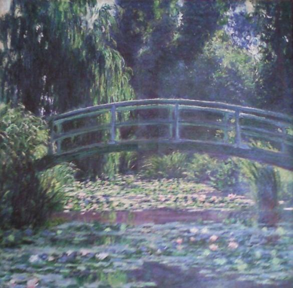 "A photo provided by the United States Attorney's Office in New York shows an 1899 painting by Impressionist master Claude Monet entitled, ""Le Bassin aux Nymphease,"" which is also known as ""Japanese Footbridge Over the Water-Lily Pond at Giverny.""   Vilma Bautista, one time secretary to Philippine's first lady Imelda Marcos, was indicted in New York, Tuesday, Nov. 20, 2012, on charges of conspiracy, tax fraud and offering a false instrument for filing for attempting to illegally sell this work and others that disappeared as Ferdinand Marco's regime collapsed in the late 1980's. (AP Photo/United States Attorney's Office)"