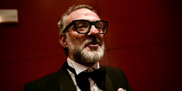 Massimo Bottura, the chef patron of Osteria Francescana restaurant in Italy, talks after receiving the award for Best Restaurant during the World's 50 Best Restaurants Awards at the Palacio Euskalduna in Bilbao, Spain, June 19, 2018. REUTERS/Vincent West