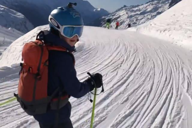 A father has shared footage of the moment his son was buried in the snow, and relived the horrific tale as a warning to other skiers.