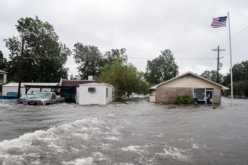 CHINA, Texas ― As the sun came out in Houston for the first time in nearly a week Wednesday, Texans to the east of the city were inundated with rain and rising waters in the aftermath of Hurricane Harvey.