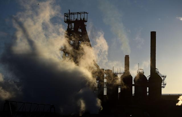 The Tata steel works in Port Talbot, Wales. Photo: PA
