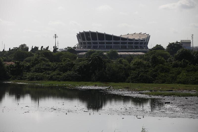 The National Theatre and its undeveloped lands are seen in Lagos, Nigeria, on Wednesday, April 3, 2013. in Lagos, Nigeria, on Wednesday, April 3, 2013. Nigeria's iconic National Theatre, long in disrepair, is now at the center of a massive redevelopment plan that could be worth millions of dollars. Nigeria's federal government has plans to use money leasing the swampy land in Lagos around the theater to private investors so they can build a mall, a five-star hotel and other amenities. However, some have doubts that the project will actually raise money for the theater. Meanwhile, the plans have already likely encouraged local officials to demolish the homes of slum dwellers living around the theater. (AP Photo/Sunday Alamba)