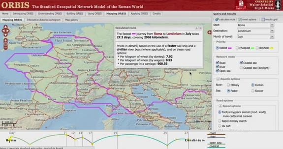 New Interactive Map Calculates Travel Times in Ancient Rome