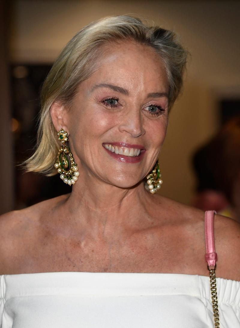 Sharon Stone attends the Brain Health Initiative 100th Anniversary Of Women's Suffrage Gala on July 17, 2019 in Los Angeles.
