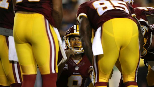 The Redskins spent much of Monday talking around rumored complaints about their franchise-tagged quarterback.