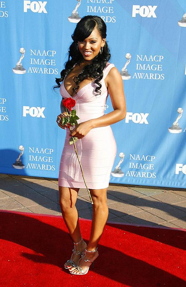 """Why did they schedule this awards show on Valentine's Day,"" asks actress Meagan Good. Jeffrey Mayer/<a href=""http://www.wireimage.com"" target=""new"">WireImage.com</a> - February 14, 2008"