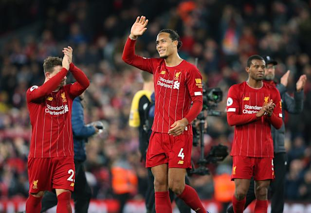 Liverpool's Virgil van Dijk heaped praise on the Reds' squad players. (Photo by Alex Livesey - Danehouse/Getty Images)