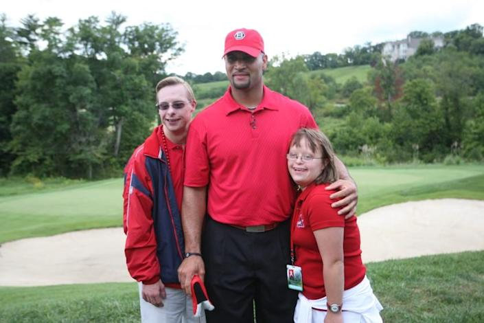 Albert Pujols at a golf charity event for his Pujols Family Foundation.