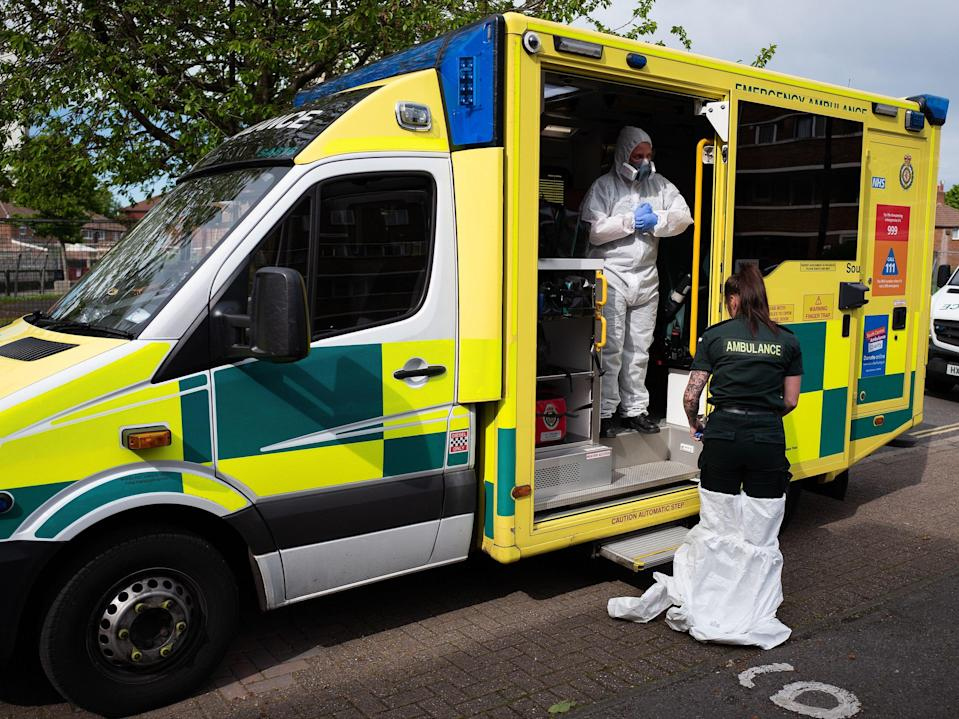 <p>The NHS has had to deal with many trials during the pandemic</p> (Leon Neal/AFP/Getty)