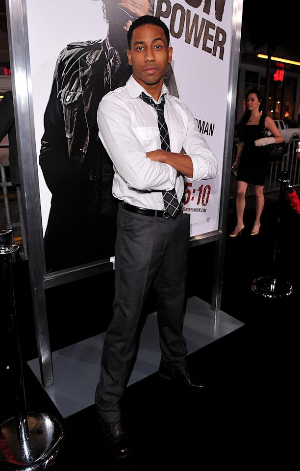 "<a href=""http://movies.yahoo.com/movie/contributor/1809251076"">Brandon T. Jackson</a> at the Los Angeles premiere of <a href=""http://movies.yahoo.com/movie/1810067275/info"">The Book of Eli</a> - 01/11/2010"